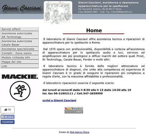 Sito web Assistenza Casciani Roma
