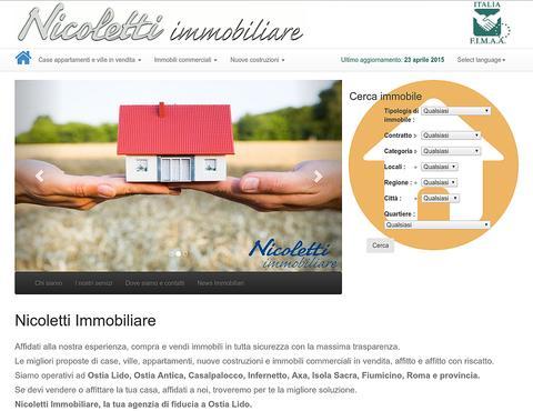 Sito web responsive con catalogo case di Nicoletti Immobiliare
