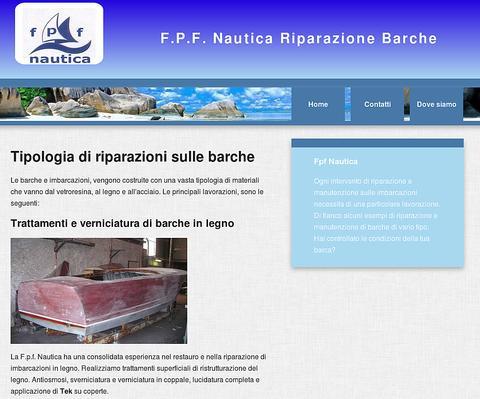 Sito web responsive Fpf Nautica Fiumicino