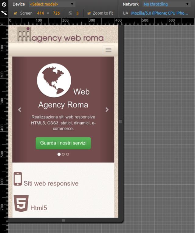 Sito web professionale con layout responsive smartphone