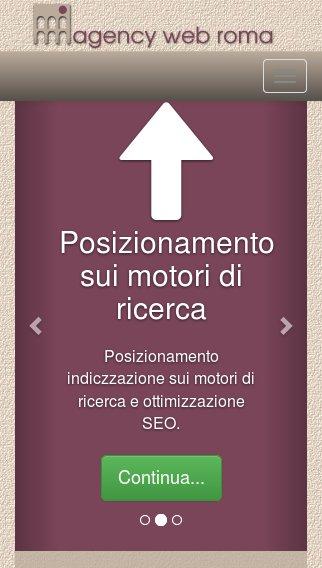 Sito web responsive portrait