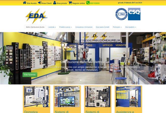 Sito web forniture materiale elettrico Eda Aurelia