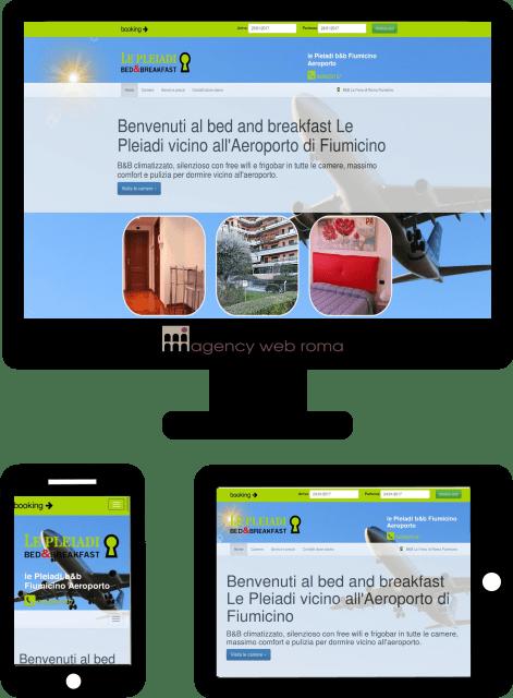 Sito web del b&b Aeroporto di Fiumicino