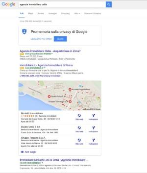 Prima posizione su Google Nicoletti Imobiliare by agency Web Roma