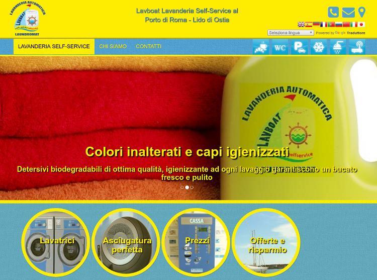 Sito web responsive della lavanderia Lavboat Lido di Ostia