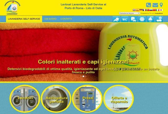 Sito web lavanderia di Ostia Lavboat