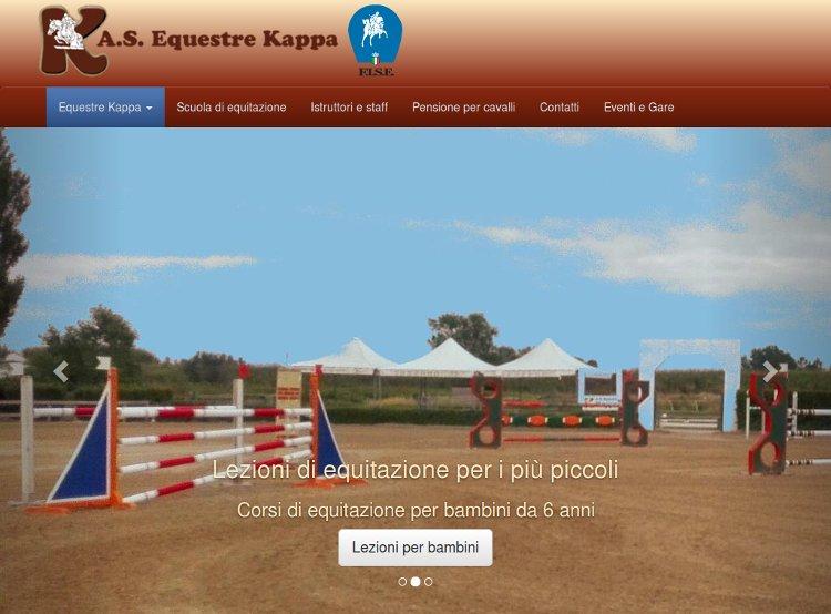 Sito web della scuola di equitazione Equestre Kappa