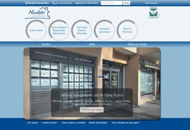 Sito web immobiliare realizzato da Agency Web Roma