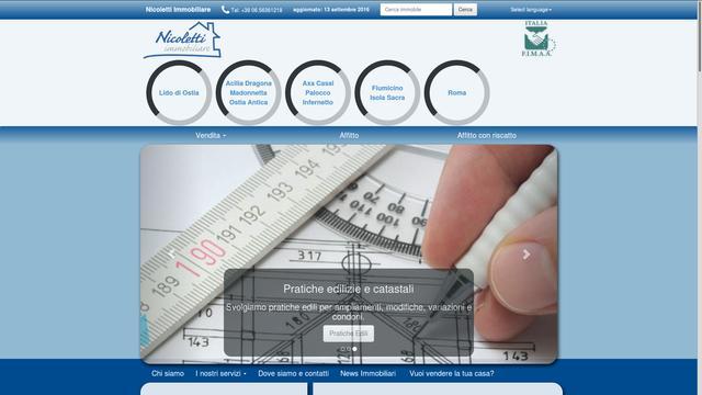 Sito web di nicoletti immobiliare restyling 2016 agency - Immobiliare nicoletti ...