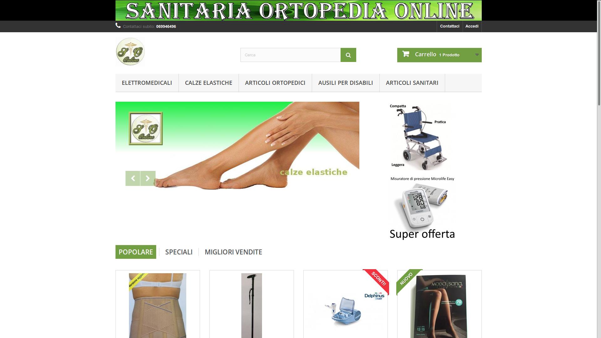 Ottimizzazione SEO sito e-commerce Ortopedia Sanitaria Online
