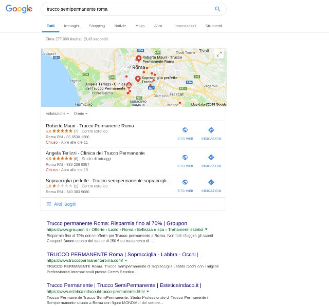 Google local search: primi sulle mappe
