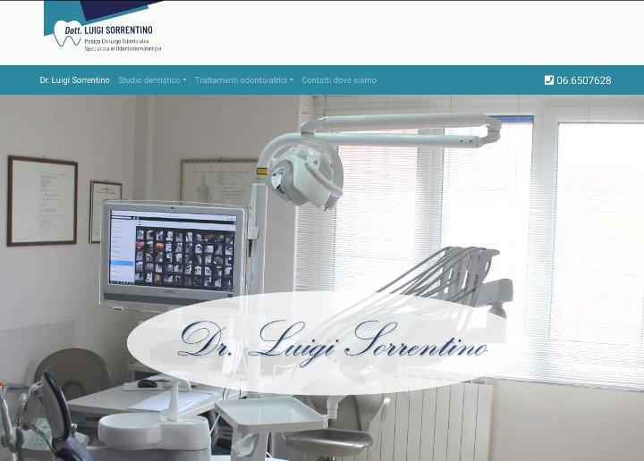 Immagine del nuovo sito web del Dott. Luigi Sorrentino, dentista in Fiumicino.