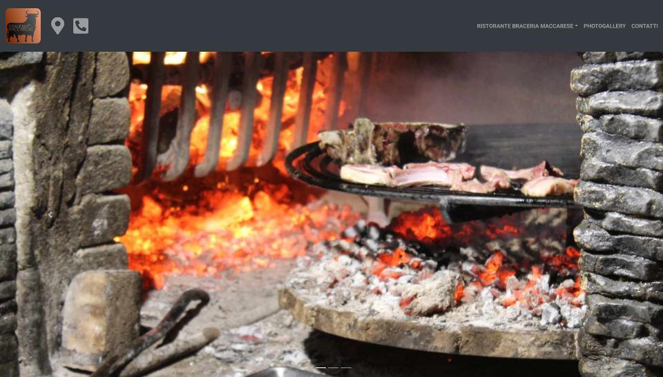 Sito web del ristorante la Braceria di Maccarese.