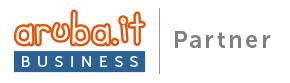 Badge di Aruba Business riservato ai partners del settore.